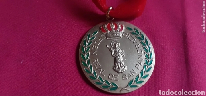 MEDALLA ORDEN REAL DE SAN PANCRACIO DE BRONCE Y LAZO ROJO (Antigüedades - Religiosas - Medallas Antiguas)