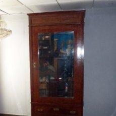 Antigüedades: ANTIGUO ARMARIO DE LUNA,ESPEJO BISELADO (SIN RESTAURAR).224 X 100 X 51 CM.. Lote 217959077