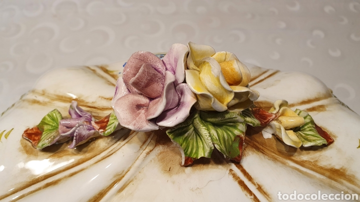 Antigüedades: Sopera porcelana floral Galos 509/4 - Foto 5 - 217963480