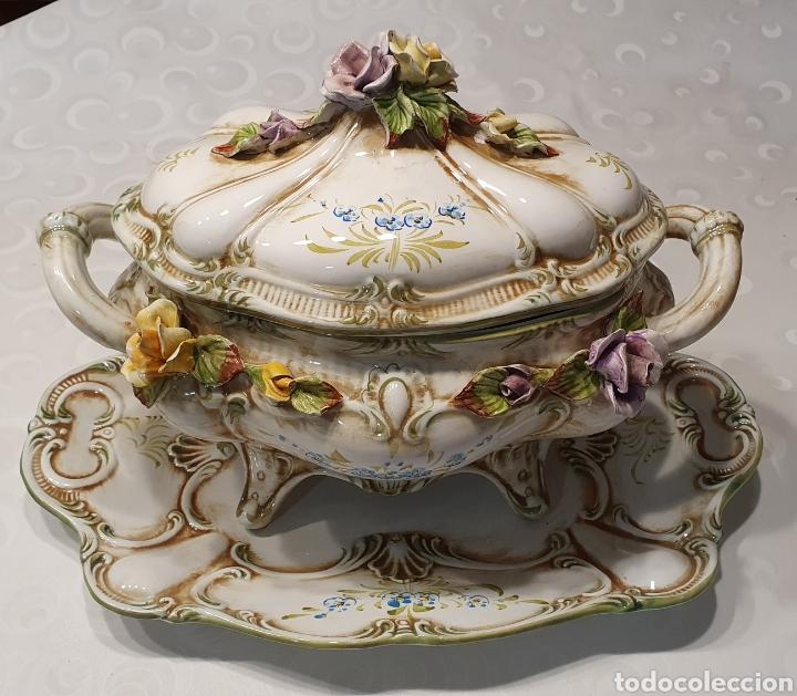 SOPERA PORCELANA FLORAL GALOS 509/4 (Antigüedades - Porcelanas y Cerámicas - Otras)