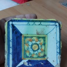 Antigüedades: AZULEJO RENACIMIENTO VALENCIANO SIGLO XVII. Lote 217966275