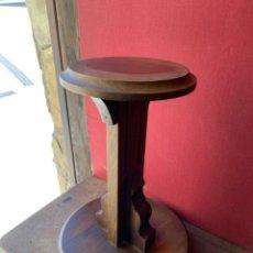 Antigüedades: PEDESTAL - MACETERO EN MADERA DE HAYA ANTIGUO. Lote 37521001