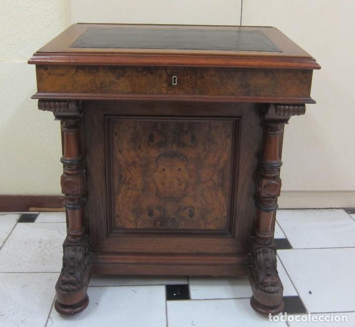 ESCRITORIO DAVENPORT INGLATERRA S XIX (Antigüedades - Muebles Antiguos - Escritorios Antiguos)