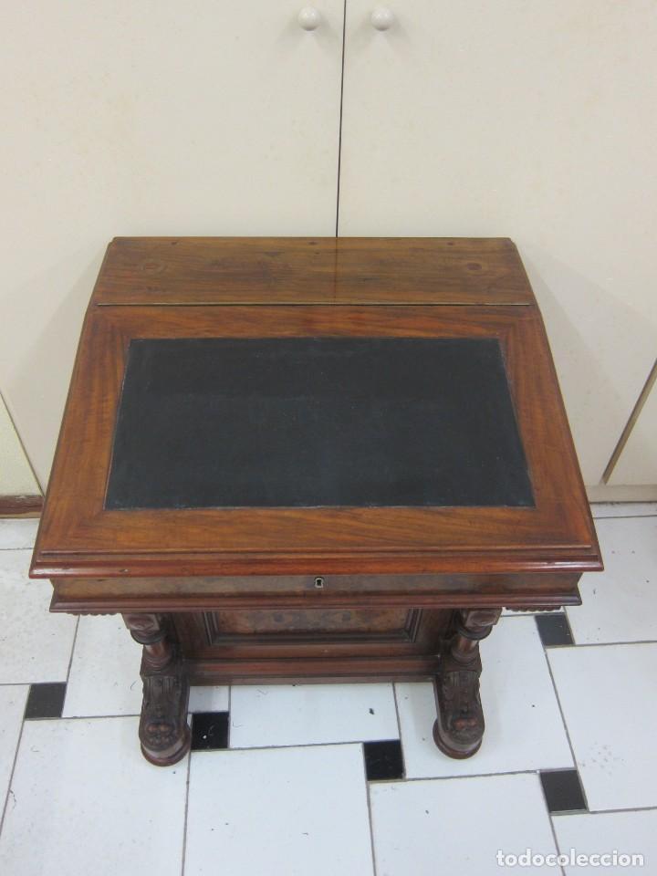 Antigüedades: Escritorio Davenport Inglaterra s XIX - Foto 2 - 217977923