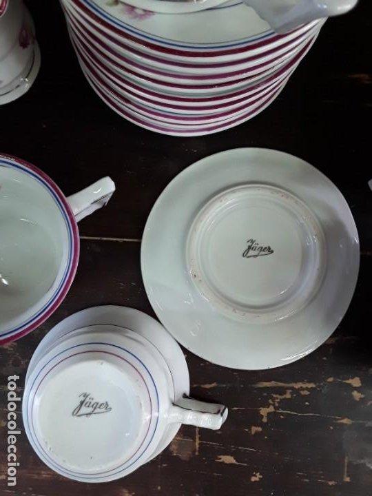 Antigüedades: Porcelana Alemana Jäger, 23 piezas. - Foto 3 - 217982940