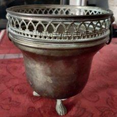 Antigüedades: GRAN JARRÓN DE LATÓN O COBRE CON ASAS. Lote 218006791