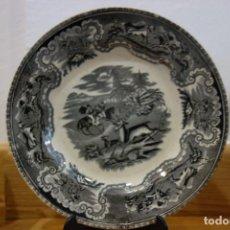 Antigüedades: PLATO LLANO DE CERÁMICA DE CARTAGENA DEL SIGLO XIX. Lote 218036565