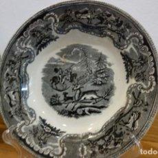 Antigüedades: PLATO HONDO DE CERÁMICA DE CARTAGENA DEL SIGLO XIX. Lote 218036722