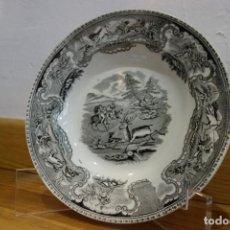 Antigüedades: PLATO HONDO DE CERÁMICA DE CARTAGENA DEL SIGLO XIX. Lote 218036765