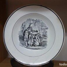 Antigüedades: PLATO HONDO DE CERÁMICA DE CARTAGENA DEL SIGLO XIX. Lote 218038745