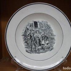 Antigüedades: PLATO HONDO DE CERÁMICA DE CARTAGENA DEL SIGLO XIX. Lote 218038861