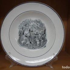 Antigüedades: PLATO HONDO DE CERÁMICA DE CARTAGENA DEL SIGLO XIX. Lote 218038897