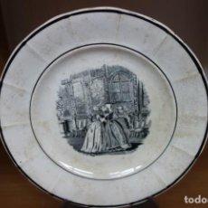 Antigüedades: PLATO LLANO DE CERÁMICA DE CARTAGENA DEL SIGLO XIX. Lote 218039012