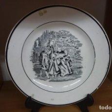 Antigüedades: PLATO LLANO DE CERÁMICA DE CARTAGENA DEL SIGLO XIX. Lote 218039051