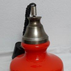 Antigüedades: LAMPARA DE OPALINA. Lote 218051190