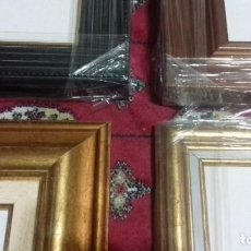 Antigüedades: LOTE DE 4 MARCOS NUEVOS. INCLUYEN TABLAS ENTELADAS. DISTINTAS MEDIDAS. VER FOTOS.. Lote 218057497