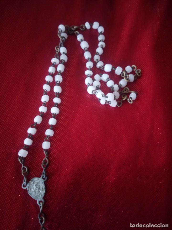 Antigüedades: Antiguo rosario de cuentas hechas en mineral - Foto 4 - 218071157
