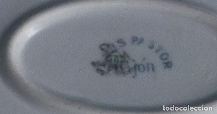 Antigüedades: Lote 3 de fuentes Santa Clara personalizadas para Jesús Pastor (Gijón) y Pensión Viuda de Nistal - Foto 7 - 218076708