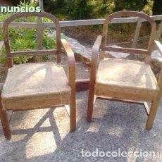 Antigüedades: PAREJA DE SILLONES ANTIGUOS ESTILO ART DECÓ. Lote 218089830