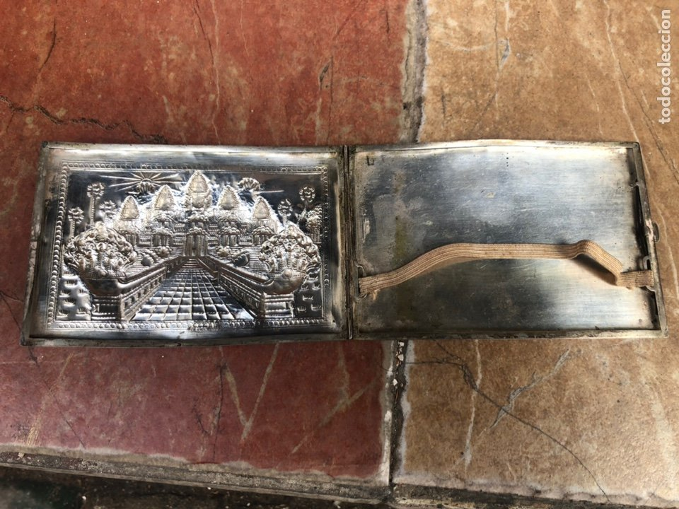 Antigüedades: Pitillera de Plata cincelada - Foto 3 - 218101853
