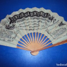 Antigüedades: (PUB-200937)ABANICO PUBLICITARIO MENTHOLINA DENTRIFRICA DR.ANDREU BARCELONA. Lote 218109640