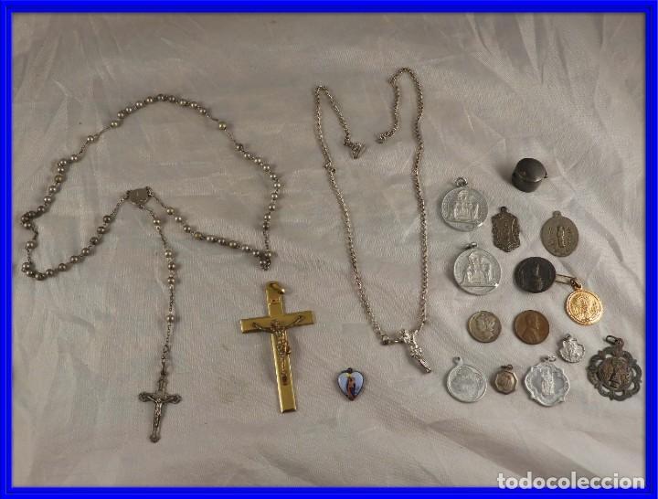 ROSARIO, CRUCES Y MEDALLAS RELIGIOSAS (Antigüedades - Religiosas - Rosarios Antiguos)