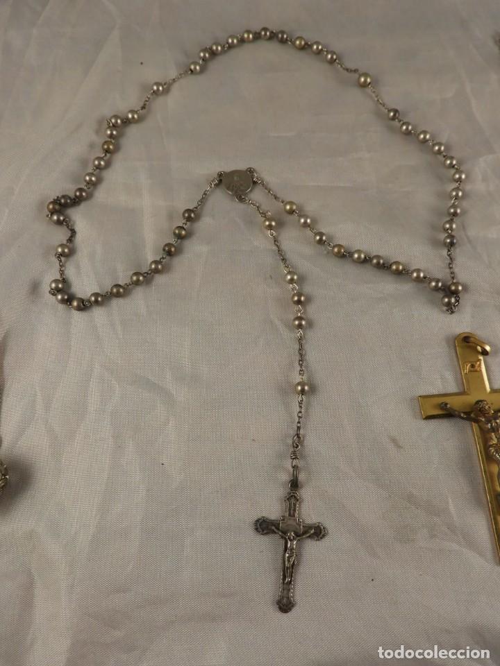 Antigüedades: ROSARIO, CRUCES Y MEDALLAS RELIGIOSAS - Foto 2 - 218113552