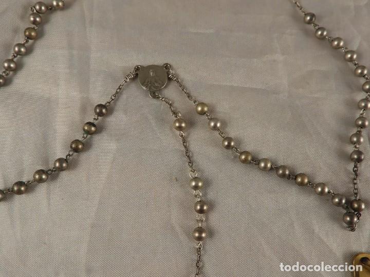 Antigüedades: ROSARIO, CRUCES Y MEDALLAS RELIGIOSAS - Foto 4 - 218113552