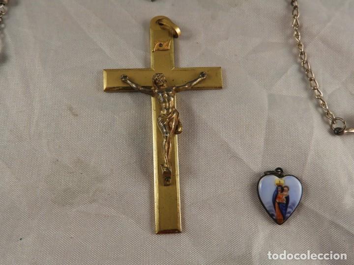 Antigüedades: ROSARIO, CRUCES Y MEDALLAS RELIGIOSAS - Foto 5 - 218113552