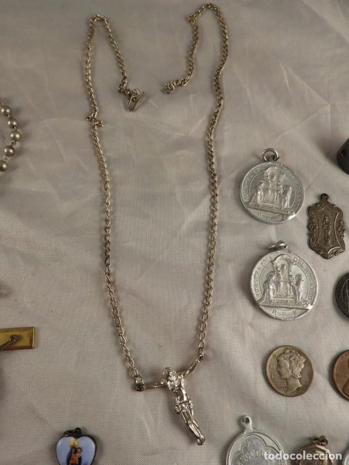Antigüedades: ROSARIO, CRUCES Y MEDALLAS RELIGIOSAS - Foto 6 - 218113552