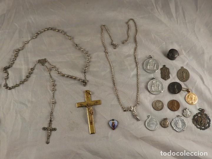 Antigüedades: ROSARIO, CRUCES Y MEDALLAS RELIGIOSAS - Foto 9 - 218113552