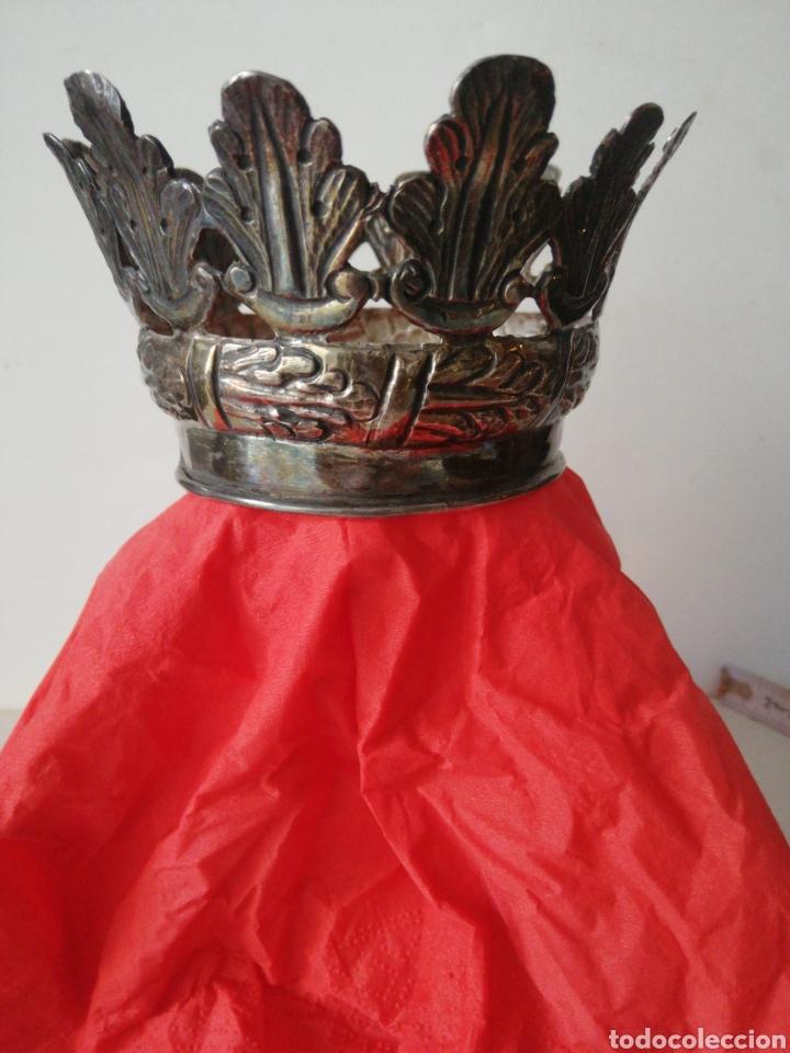 CORONA PLATA SIGLO XVIII (Antigüedades - Religiosas - Orfebrería Antigua)