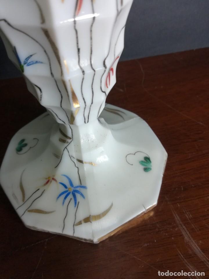 Antigüedades: Magnifica copa de opalina blanco - Foto 4 - 218145813