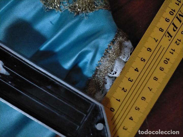 Antigüedades: ANTIGUO TRAJE NIÑO JESUS RASO DE SEDA ENCAJES CONCHA ORO METAL SEMANA SANTA - Foto 14 - 218145857