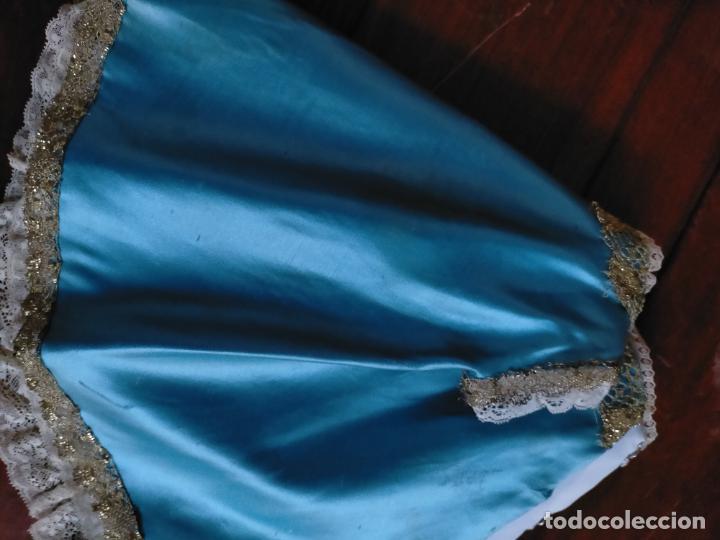 Antigüedades: ANTIGUO TRAJE NIÑO JESUS RASO DE SEDA ENCAJES CONCHA ORO METAL SEMANA SANTA - Foto 18 - 218145857