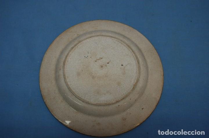 Antigüedades: PLATO EN PORCELANA CARTAGENA - Foto 2 - 218154237