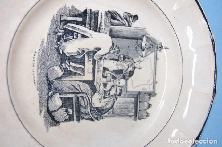 Antigüedades: PLATO EN PORCELANA CARTAGENA - Foto 2 - 218154466