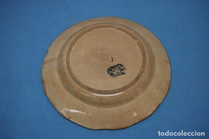 Antigüedades: PLATO EN PORCELANA CARTAGENA - Foto 3 - 218154466