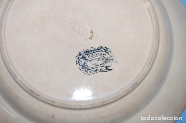 Antigüedades: PLATO EN PORCELANA CARTAGENA - Foto 4 - 218154466