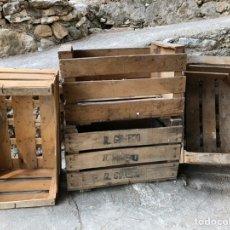 Antigüedades: ANTIGUAS CAJAS DE MADERA DE FRUTAS. Lote 218155675