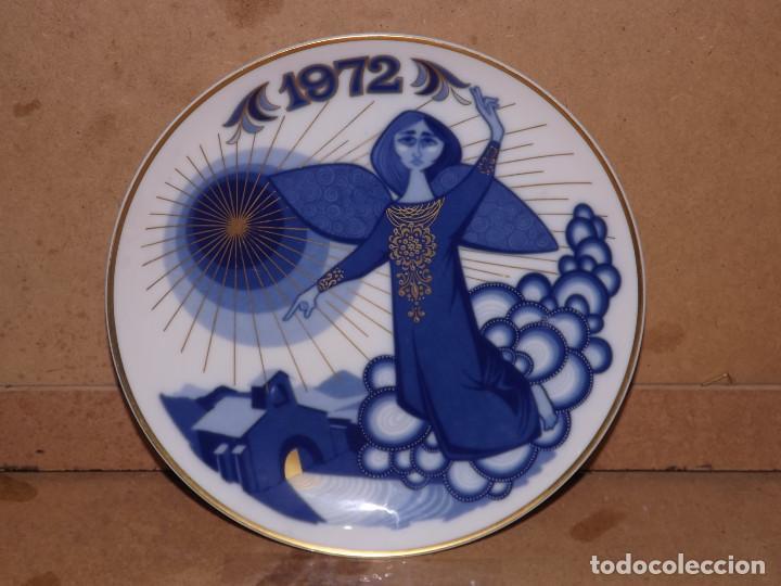 PLATO PORCELANA SANTA CLARA - NAVIDAD 1972 (Antigüedades - Porcelanas y Cerámicas - Santa Clara)