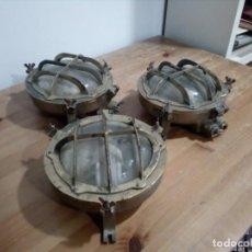 Antigüedades: OJOS DE BUEY ANTIGUO BRONCE. Lote 218159410