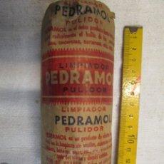Antigüedades: VIGO LOCAL - 1950'S - PAQUETE PULIMENTO LIMPIADOR ' PEDRAMOL ' EXCELENTE, NINGUNO EN VENTA + INFO. Lote 218162551