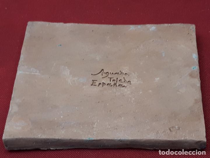 Antigüedades: AZULEJO DE CERAMICA EN ARISTA DE AGUADO - TOLEDO - HERALDICA - PIEZA UNICA: - Foto 6 - 218228438