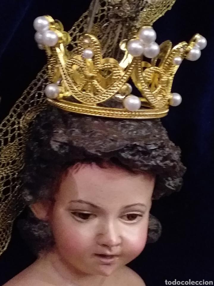 CORONA DE METAL DORADO Y PERLAS (Antigüedades - Religiosas - Orfebrería Antigua)