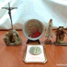 Antigüedades: LOTE DE 5 ARTÍCULOS/RECUERDOS RELIGIOSOS.. Lote 236847405