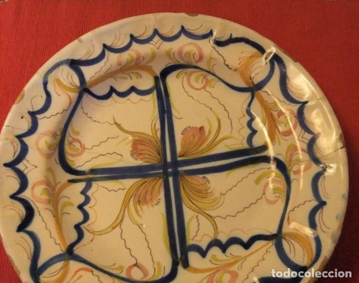 Antigüedades: MUY ANTIGUO PLATO DE CERÁMICA DE TALAVERA LAÑADO - Foto 2 - 218267142