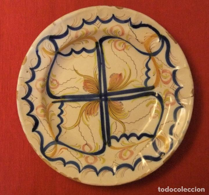 Antigüedades: MUY ANTIGUO PLATO DE CERÁMICA DE TALAVERA LAÑADO - Foto 7 - 218267142