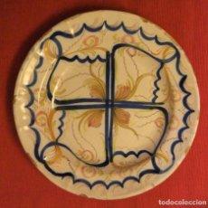Antigüedades: MUY ANTIGUO PLATO DE CERÁMICA DE TALAVERA LAÑADO. Lote 218267142
