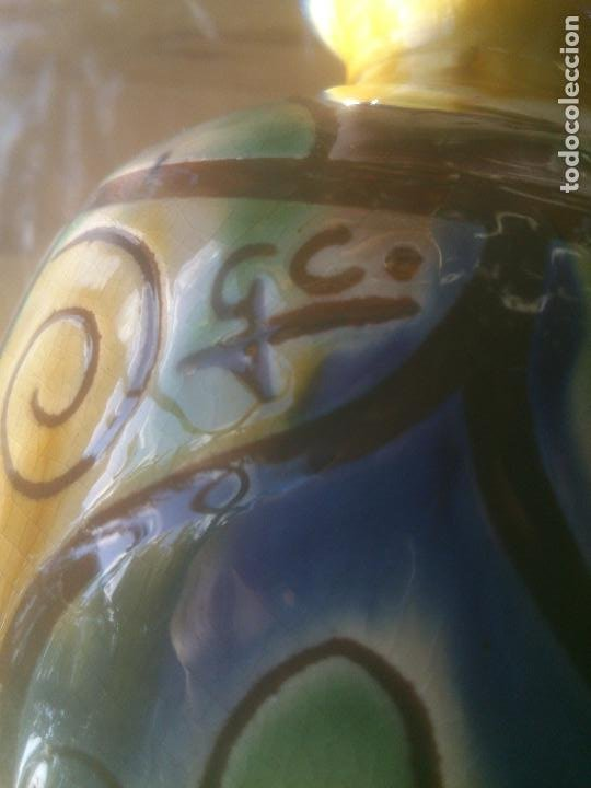 Antigüedades: Fantástico jarron de TALAVERA .GC. - Foto 3 - 218269623
